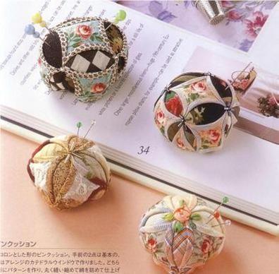 Little pincushions.  Quilters Barn brings you Yoko Okamoto - Japans patchwork teacher
