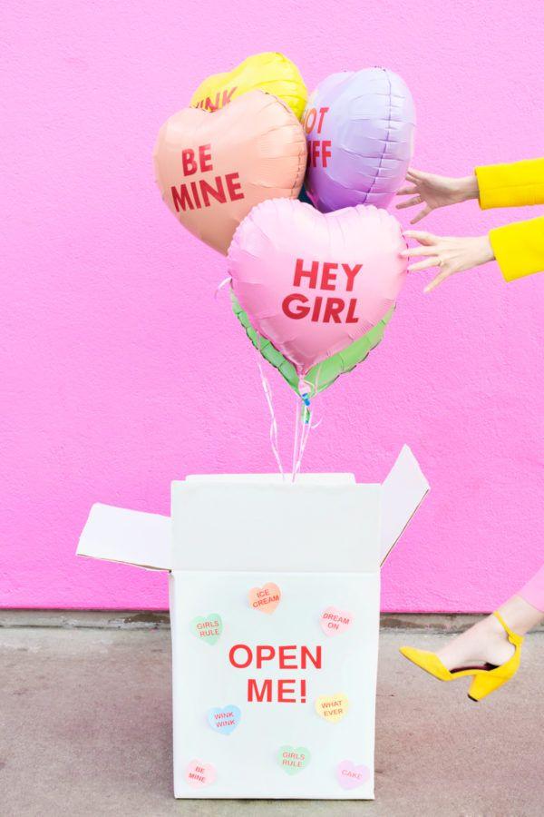 DIY Valentine Balloon Surprise Box   Studio DIY