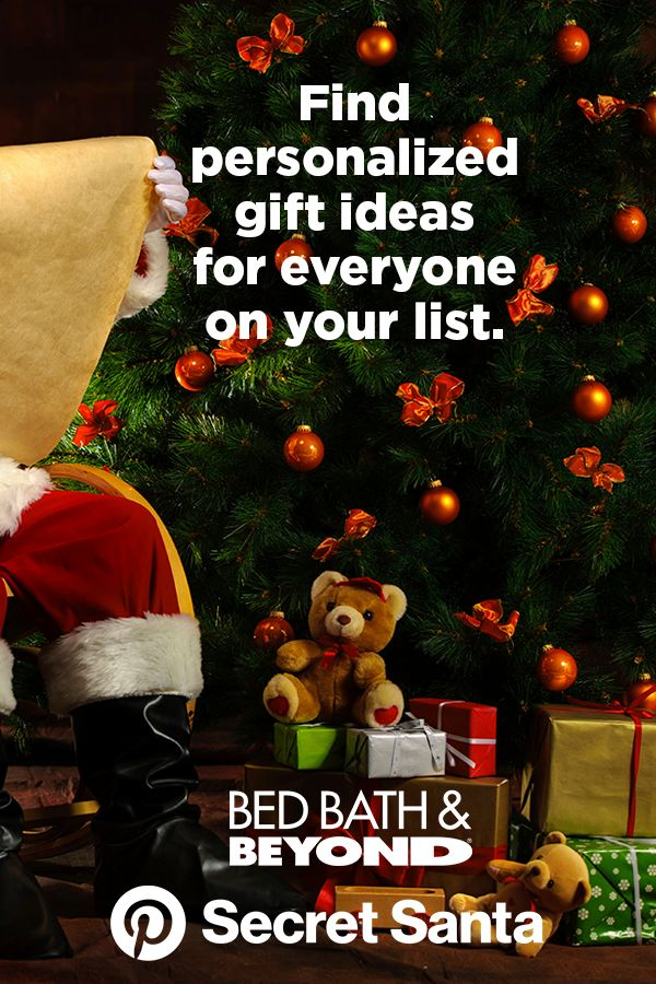 Pinterest Secret Santa is the ultimate personalized gift finder. Get customized recommendations based on what your friends and family are saving on Pinterest and find the perfect gift at Bed Bath & Beyond.