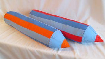 """игровые подушки """"карандаши"""".возможно изготовление в любом цвете."""