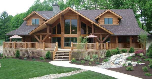 Porch Lover's Log Home Dream is the Big Sky Gold Package Costing $315,890.00