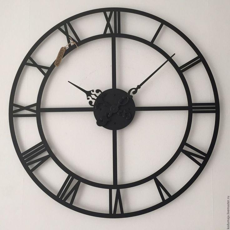 """Купить Часы 80см """"Roman rist-2"""" - черный, римские часы, часы настенные, украшение"""