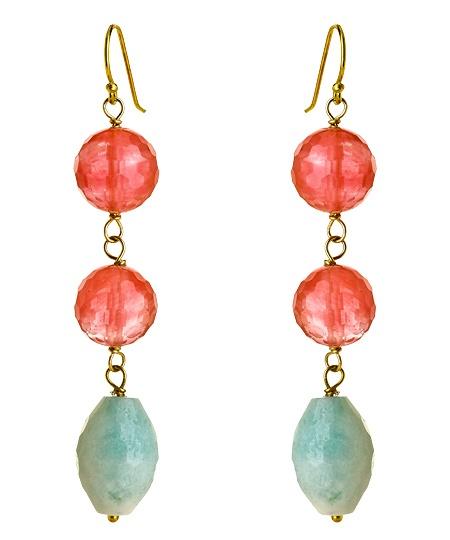Amanda Rudey Cherry Quartz Amazonite Ella EarringsJewelry3, Fashion Jewelry, Jewelry 3