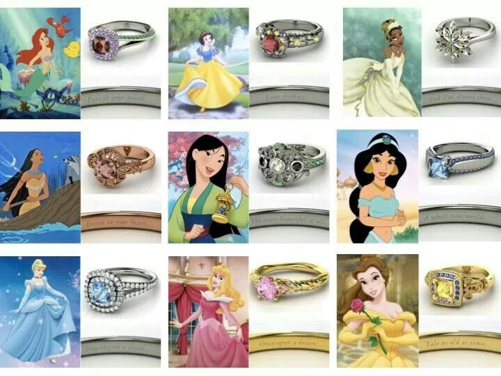 Disney Princess Ring Collection I Want Them All Cute