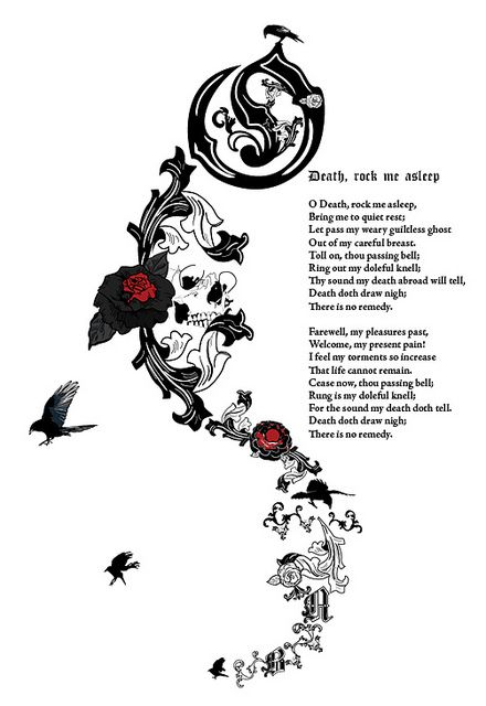 """""""O Death,"""" supposedly by Anne Boleyn and illustrated by swabreen.  I don't know if she actually wrote this, but I like it all the same...and more if she did..."""