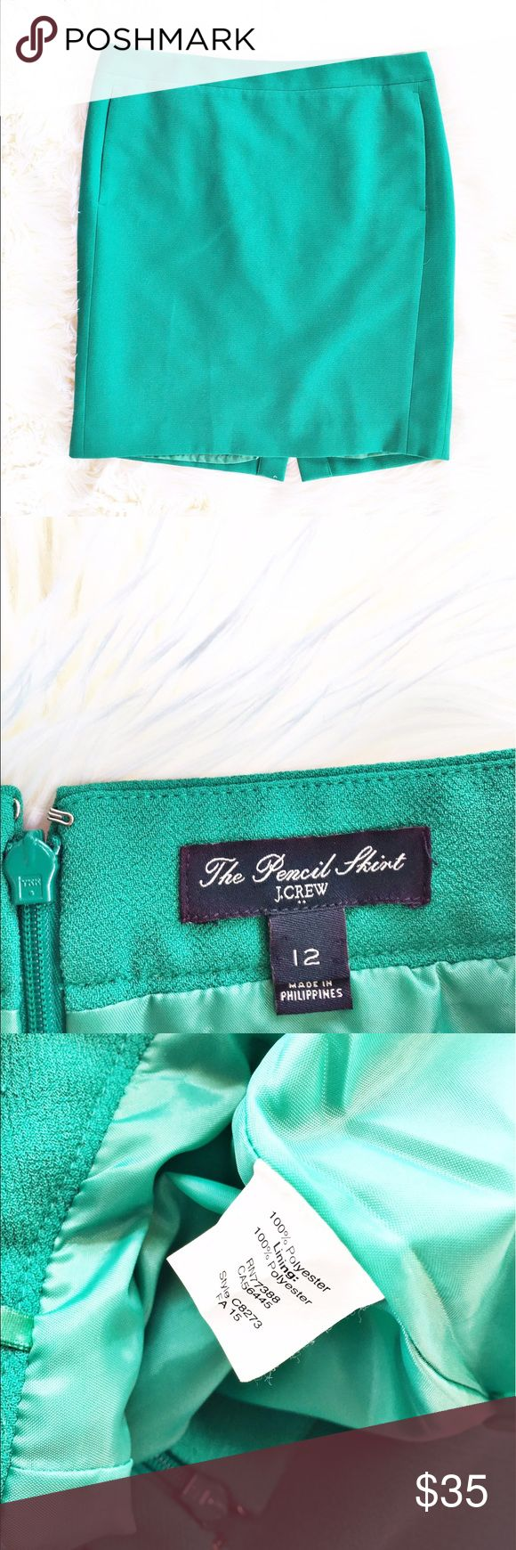 """J. Crew pencil skirt Gorgeous Kelly green pencil skirt from J. Crew Factory, size 12. Fully lined, invisible zipper in he back, front pockets. Excellent condition. Flat measurements are waist: 17.75', hips:21"""", length: 21.5"""". J. Crew Factory Skirts Pencil"""