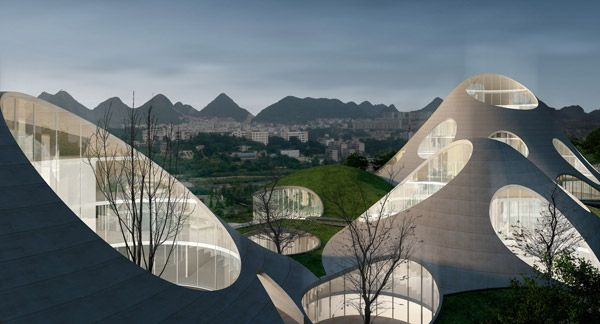Parcel 9 by Serie Architects - see how the roof is mimicking the hills in the background