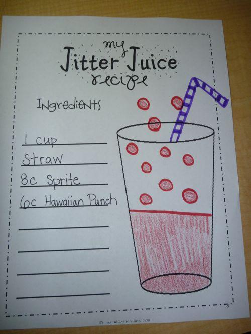 The first few days of school!  Jitter Juice Recipe
