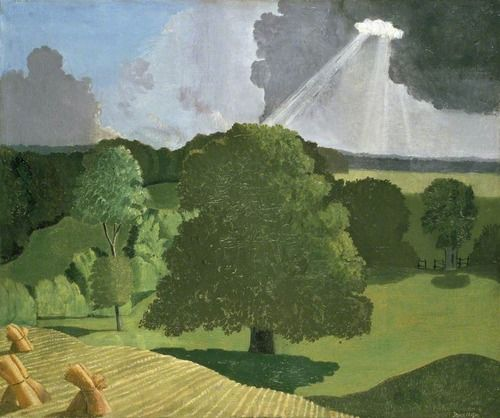 John Nash R.A. (1893-1977) A Gloucestershire Landscape. He served with The Artists Rifles from 1916-1918.