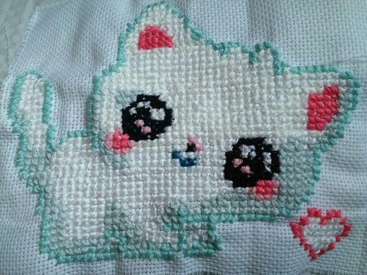 Gattino punto croce cross stitch