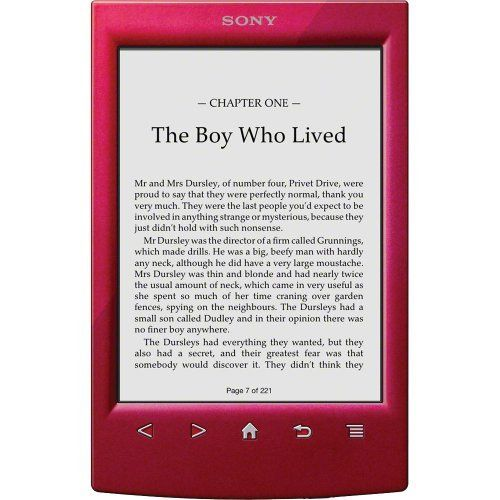 Sony PRS-T2RC 6 inch Touchscreen WiFi eReader - Red by Sony. $129.99. Enjoy your favorite books whenever, wherever on the Sony Reader. Boasting a 6 touchscreen and weighing less than 6 ounces, the PRS-T2 Reader is no bigger than an average paperback. Download free books wirelessly from your public library or buy the hottest titles from Reader Store. The Sony Reader features a glare-free, E-Ink Pearl touch screen that is so easy to read, you'll never want to put ...