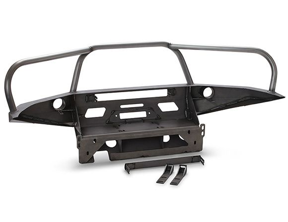 06-09 4Runner Front Bumper Full Hoops Rear View