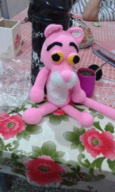 Pantera rosa amigurumis