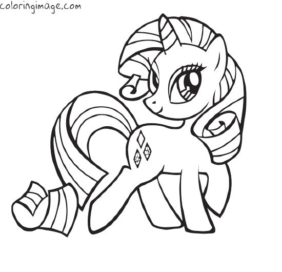 free print out online my little pony friendship is magic rarity coloring book pages for kids