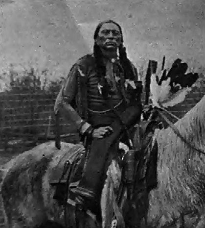 Rare photo: Quanah Parker, Comanche chief, no date