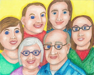 Mom, Dad, My Sister, My Brother, Me, and My youngest Sister.
