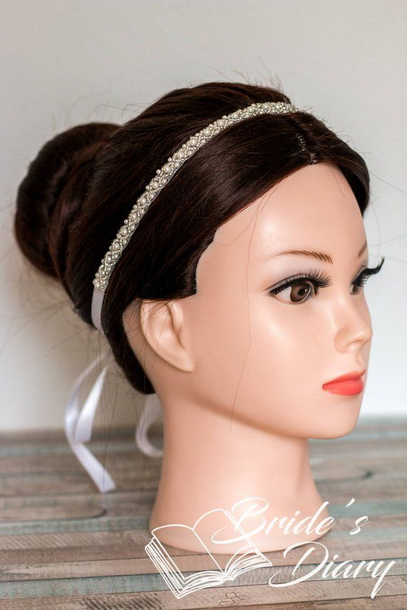 Wedding Hair Jewelry Classic Pearls Bridal Hairband Bridal Pearls