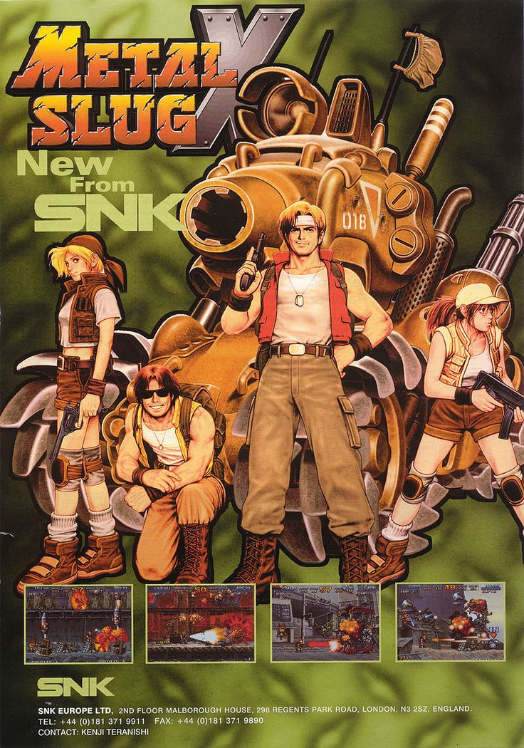 Metal Slug X, found on Metal Slug Anthology on PS2 and Wii. The game, like the series, is as difficult as it's cute.