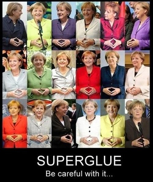 Superglue. Be careful with it.