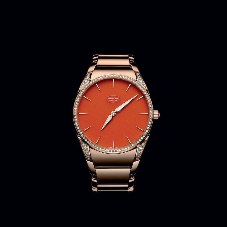 Radiating optimism and joie de vivre, Parmigiani Fleurier's Tonda 1950 Poppy watch has an eye-catching dial crafted from red aventurine. Discover the Swiss watch brand that you need to know about, creating beautiful fashion watches for stylish women: http://www.thejewelleryeditor.com/watches/article/parmigiani-top-5-watches-for-women/ #luxury