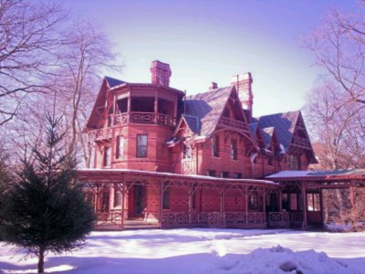 Mark Twain House In Winter.