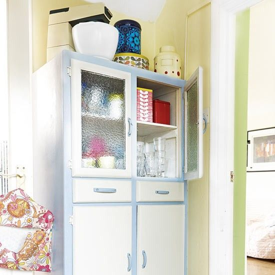 Country kitchen with retro dresser