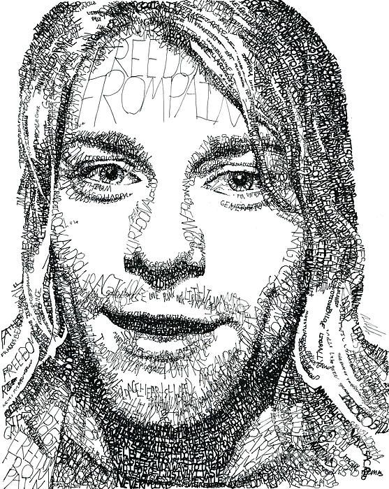 Kurt Cobain Completely Made of words!