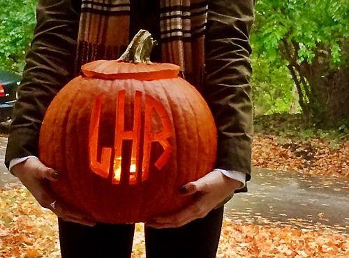 Best monogram pumpkin ideas on pinterest fall