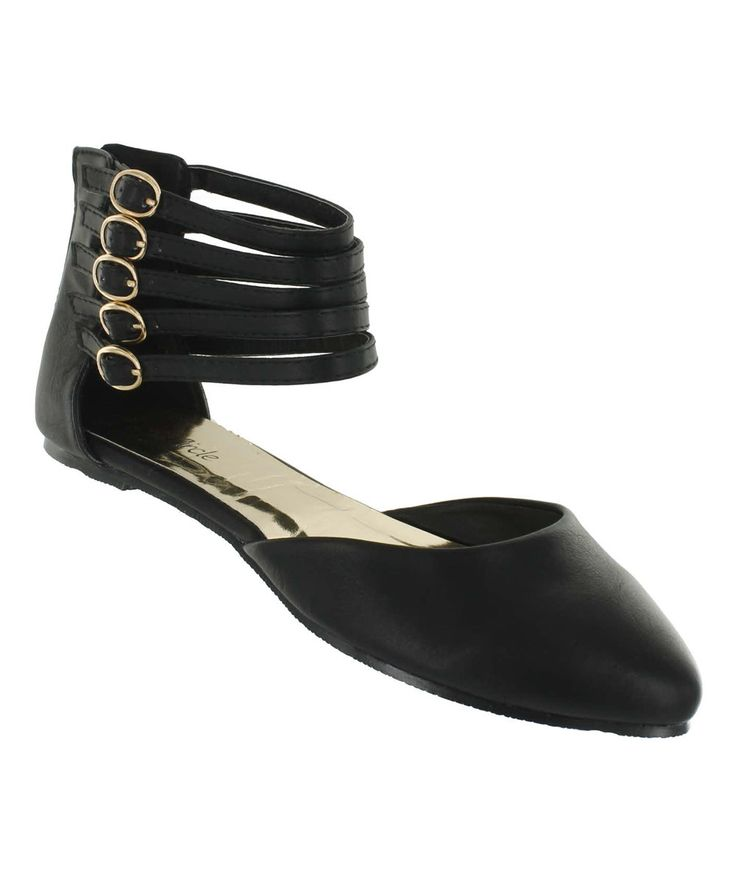 Look at this Red Circle Footwear Black Athena D'Orsay Flat on #zulily today!