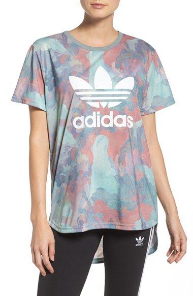 Free shipping and returns on Adidas Originals Boyfriend Tee at Nordstrom.com. Pastel watecolors marble this sporty drop-tail tee, both relaxed and cute.