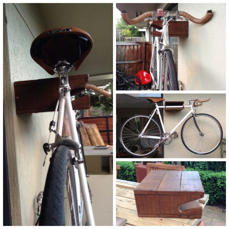 Rustic Bike rack Build with reclaim wood Beautiful red gum from a pallet ;)