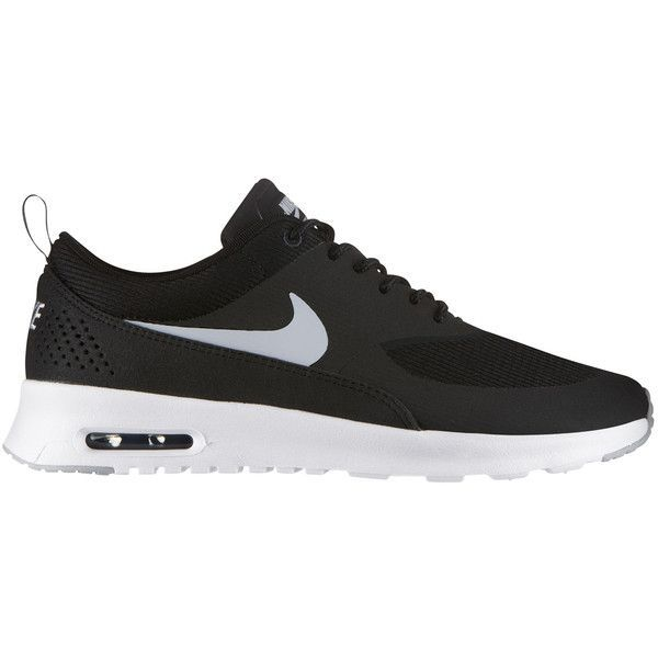 Nike Nike Air Max Thea ($110) ❤ liked on Polyvore featuring shoes, athletic shoes, black, black shoes, lightweight shoes, light weight shoes, synthetic shoes and air cushion shoes