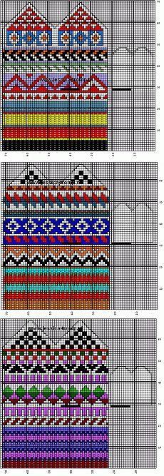 Орнаменты для вязания варежек.