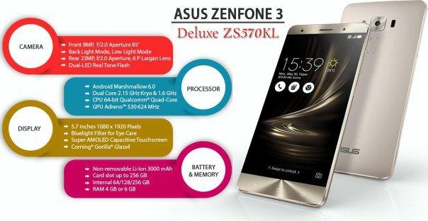 Smartphone Asus zenfone 3 deluxe z750kl