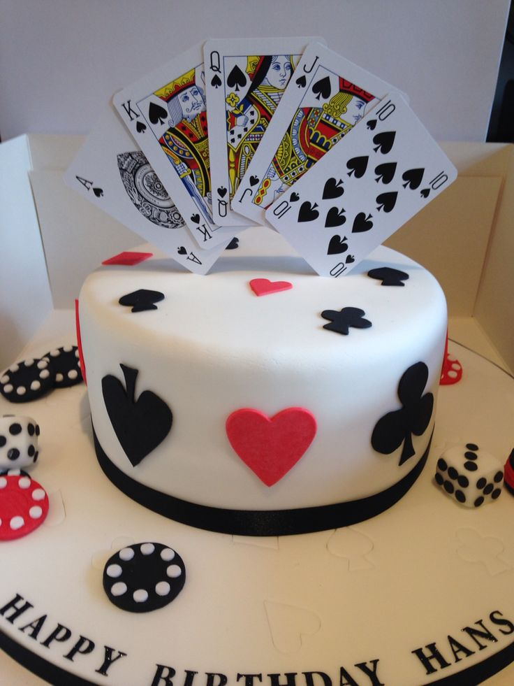Poker Chip Cake Ideas