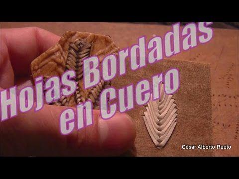 """¿Cómo bordar flores en cuero? """"El Rincón del Soguero"""" - YouTube"""