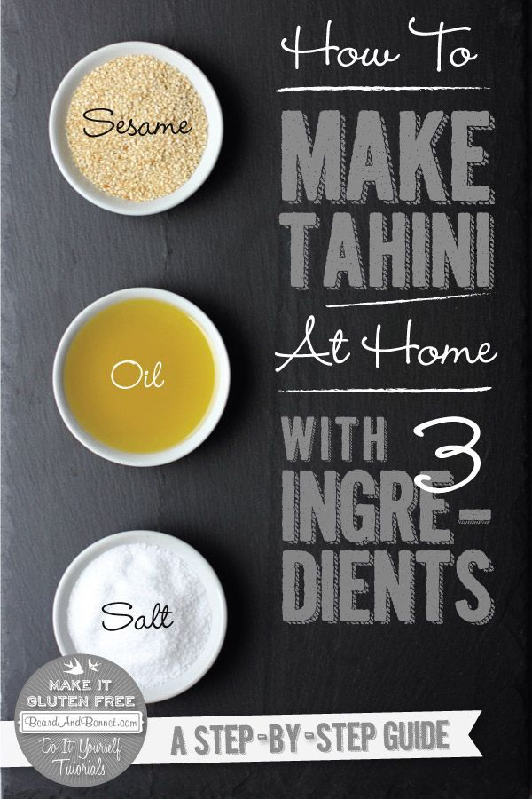 How To Make Tahini with just 3 ingredients | Beard + Bonnet