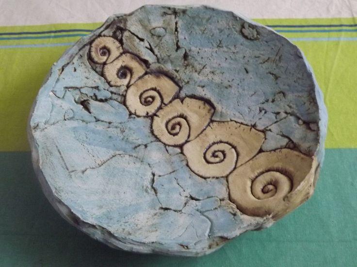 Deko-Objekte - XXL Schale~Handarbeit~Keramik~Unikat~Deko-Teller~ - ein Designerstück von elfenfluestern bei DaWanda
