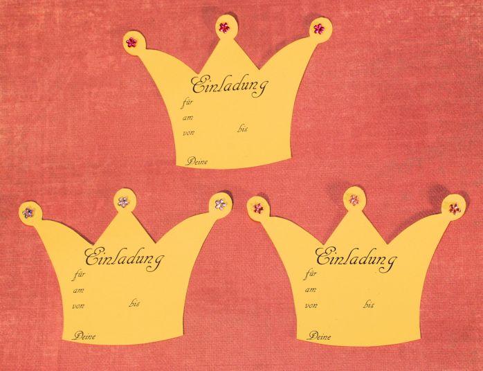 Kostenlose Einladungskarten Zum Selbst Ausdrucken Für Den Geburtstag, Z.B.  Kindergeburtstag Prinzessin