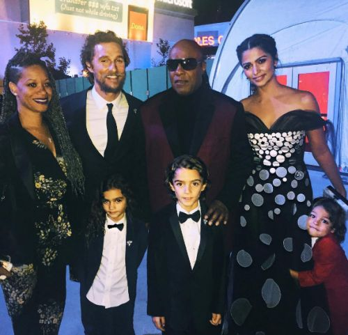 Matthew McConaughey and Camila Alves take their kids Levi, Vida and Livingston to the premiere of Sing on December 3, 2016