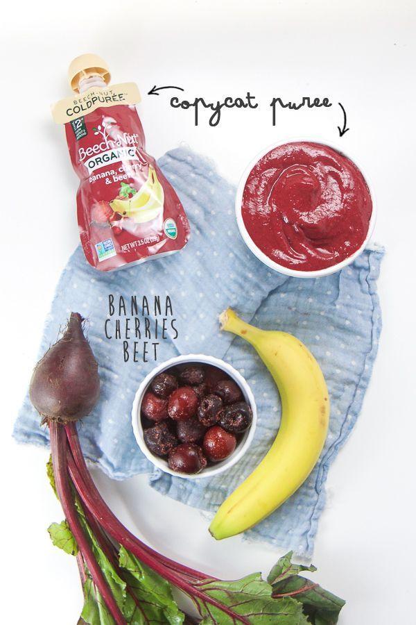 Banana Cherry Beet Baby Food Puree Homemade Baby Food Recipes