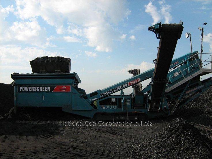 Сортированный уголь на различные фракции