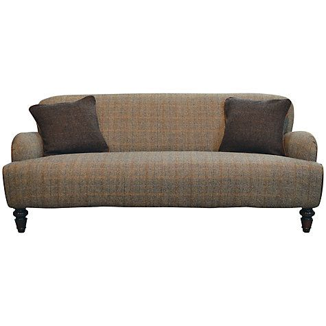Buy Harris Tweed for John Lewis Lewis Large Sofa, Bracken/Tan Online at johnlewis.com