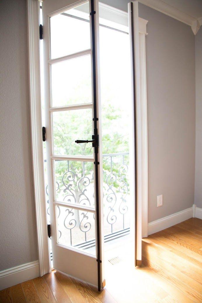Home Remodel Custom Home Build French Doors Fancy Black Hardware  #KitchenRemodeler #CustomHomeBuilder #BathroomRemodeler. Colorado SpringsFrench  ...