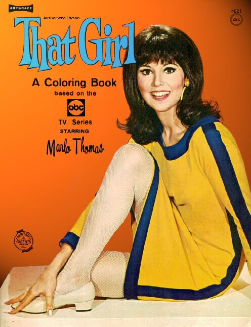 Marlo Thomas in That Girl (1966-71, ABC) — coloring book