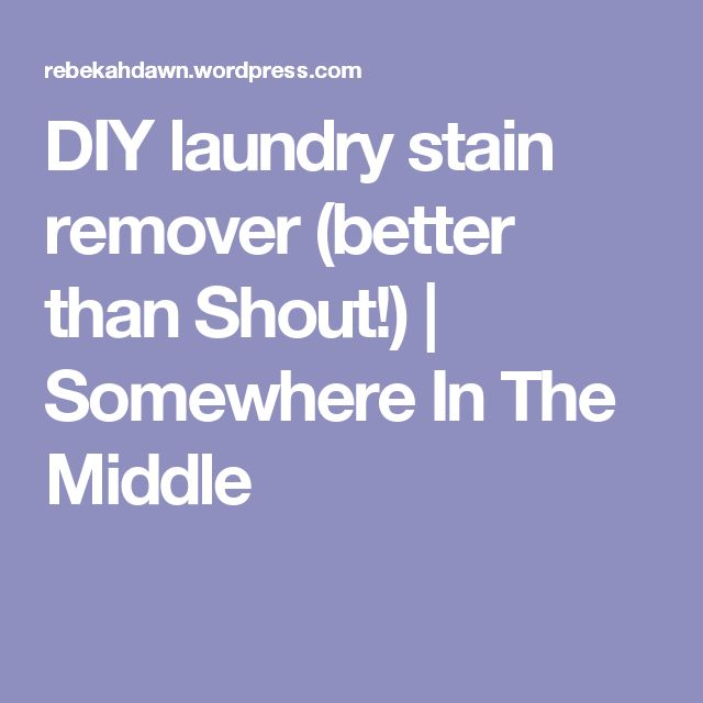 DIY laundry stain remover (better than Shout!) | Somewhere In The Middle