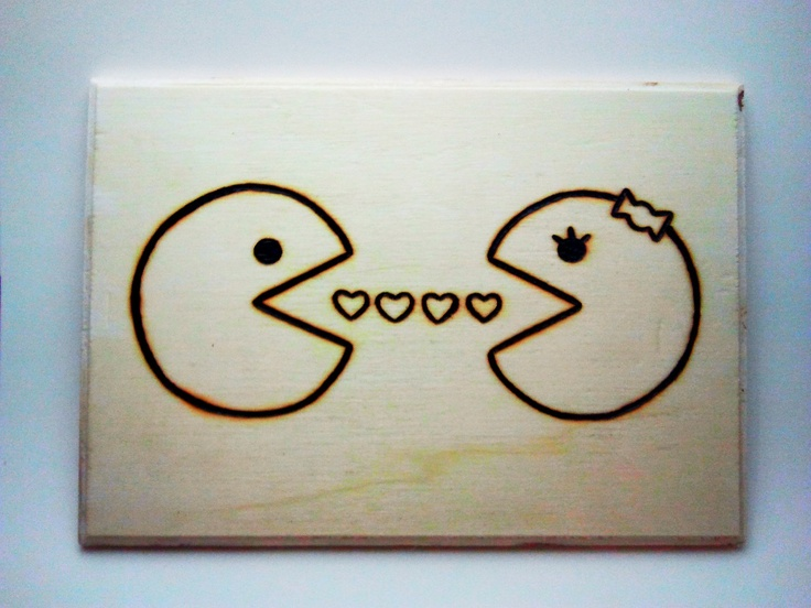 Mr+and+Ms+Pacman+by+IWoodBurnThat+on+Etsy,+$35.00