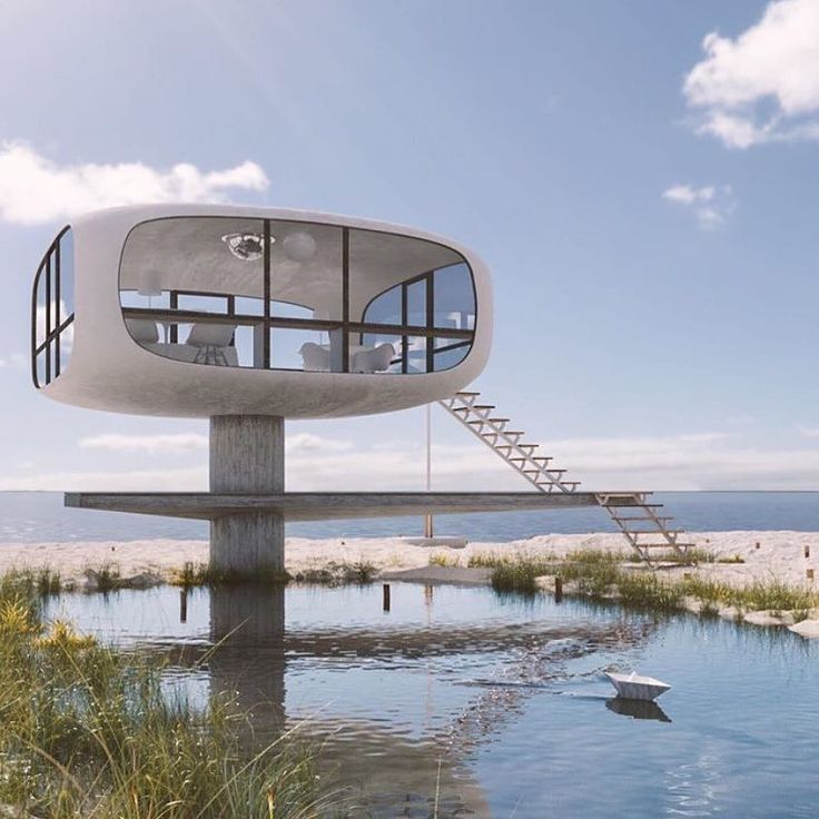 Lifeguard post, Rügen, Germany in 2020 Modernisme