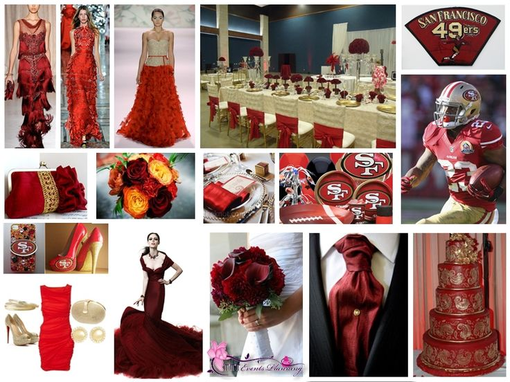 """Super Bowl Inspired"" Wedding Theme - San Francisco 49ers  SUPER BOWL XLVII 2013 #49ers"