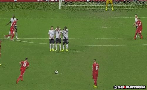 GIF: Swiss Score First Goal Directly With Free Kick
